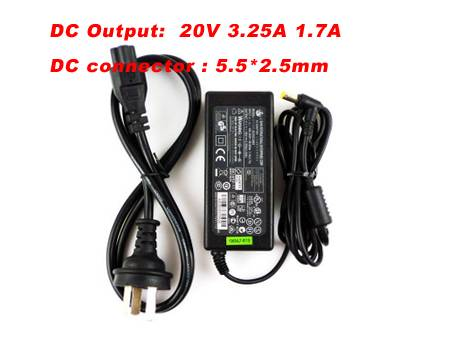 20V 3.25A Advent Laptop AC Adapter