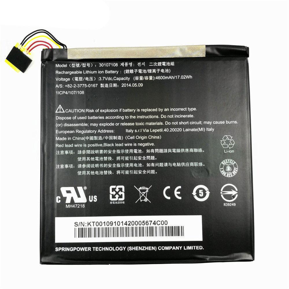 3.7V Acer AKKUS