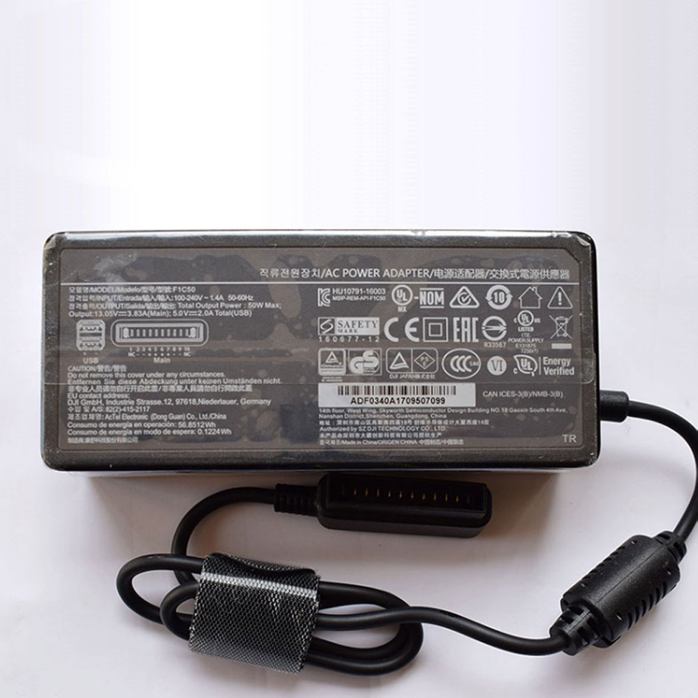 13.05V 3.83A/50W DJI Laptop AC Adapter